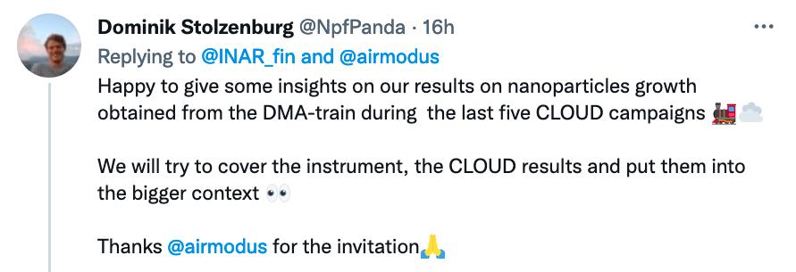 Tweet by Dominik Stolzenburg